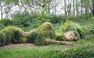 Gaia-Goddess groen liggend